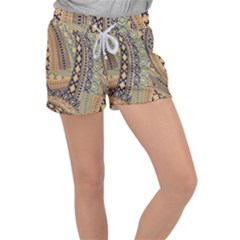 Fancy Colorful Mexico Inspired Pattern Women s Velour Lounge Shorts by tarastyle