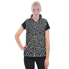 Tile Background Image Pattern Patterns Women s Button Up Vest by Pakrebo