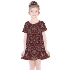 Image Background Pattern Kids  Simple Cotton Dress