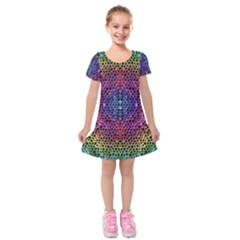 Background Image Decorative Kids  Short Sleeve Velvet Dress by Pakrebo