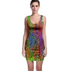 Background Image Ornament Bodycon Dress