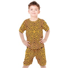 Background Pattern Structure Kids  Tee And Shorts Set by Pakrebo