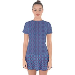 Background  Geometric Pattern Drop Hem Mini Chiffon Dress by Pakrebo