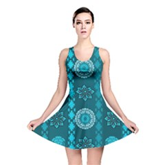 Fancy Colorful Mexico Inspired Pattern Reversible Skater Dress by tarastyle