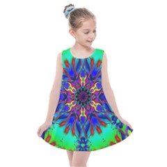 Fractal Art Pictures Digital Art Kids  Summer Dress by Pakrebo