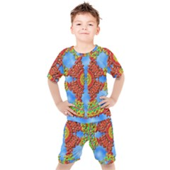 Pictures Digital Art Abstract Kids  Tee And Shorts Set by Pakrebo