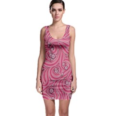 Pattern Doodle Design Drawing Bodycon Dress