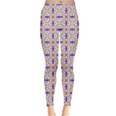 Background Image Tile Geometric Leggings