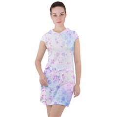 Digital Art Artwork Abstract Pink Purple Drawstring Hooded Dress by Jojostore