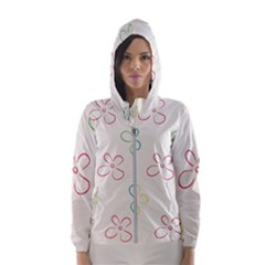 Flower Background Nature Floral Hooded Windbreaker (women) by Mariart