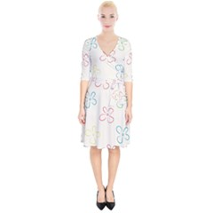 Flower Background Nature Floral Wrap Up Cocktail Dress by Mariart