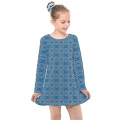 Background Image Pattern Kids  Long Sleeve Dress by Pakrebo
