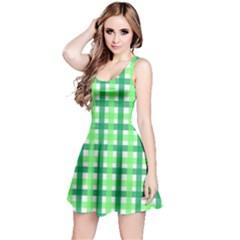 Sweet Pea Green Gingham Reversible Sleeveless Dress by WensdaiAddamns