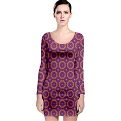 Background Image Wallpaper Long Sleeve Bodycon Dress by Pakrebo