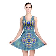 Tile Background Image Graphic Reversible Skater Dress