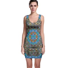 Tile Pattern Background Image Bodycon Dress