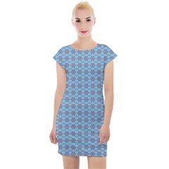 Kaleidoscope Colorful Units Surreal Cap Sleeve Bodycon Dress