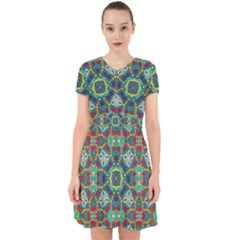 Farbenpracht Kaleidoscope Art Adorable In Chiffon Dress by Pakrebo