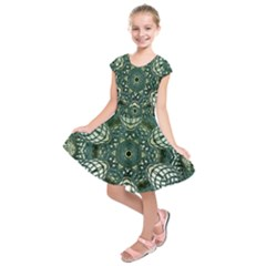 Background Image Decoration Kids  Short Sleeve Dress