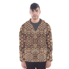 Pattern  Background Hooded Windbreaker (men) by Pakrebo