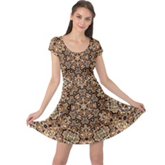 Pattern  Background Cap Sleeve Dress by Pakrebo