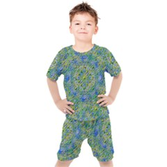 Farbenpracht Kaleidoscope Kids  Tee And Shorts Set by Pakrebo