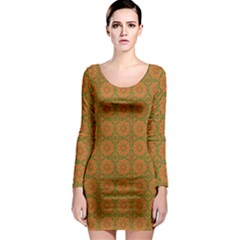 Background Design Background Image Long Sleeve Bodycon Dress by Pakrebo