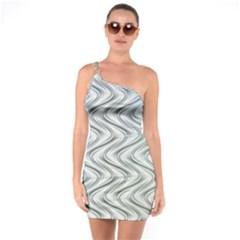 Abstract Geometric Line Art One Soulder Bodycon Dress by Pakrebo