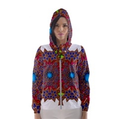 Tile Background Image Pattern Hooded Windbreaker (women) by Pakrebo