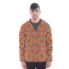 Tile Background Image Pattern Hooded Windbreaker (men) by Pakrebo