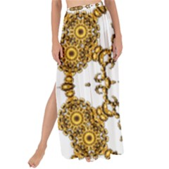 Fractal Tile Construction Design Maxi Chiffon Tie Up Sarong by Pakrebo