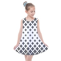 Black And White Tribal Kids  Summer Dress by retrotoomoderndesigns