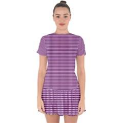 Purple Gingham Drop Hem Mini Chiffon Dress by retrotoomoderndesigns