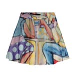 At the Cafe  Mini Flare Skirt