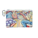 At the Cafe  Canvas Cosmetic Bag (Medium)