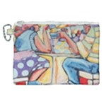 At the Cafe  Canvas Cosmetic Bag (XL)