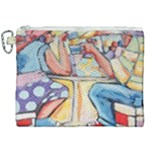At the Cafe  Canvas Cosmetic Bag (XXL)