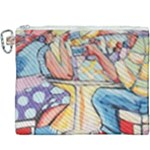 At the Cafe  Canvas Cosmetic Bag (XXXL)