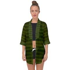 Seaweed Green Open Front Chiffon Kimono by WensdaiAmbrose