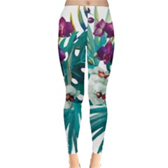 Tropical Flowers Leggings  by goljakoff