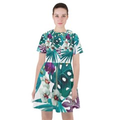 Tropical Flowers Sailor Dress by goljakoff