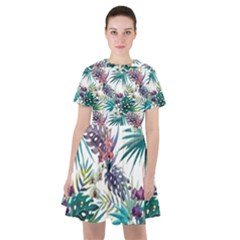 Tropical Flowers Pattern Sailor Dress by goljakoff