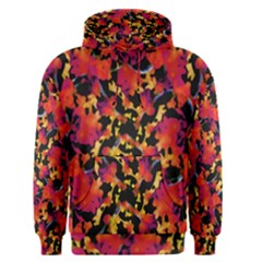 Red Floral Collage Print Design 2 Men s Pullover Hoodie by dflcprintsclothing
