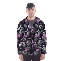 Flamingo Pattern Hooded Windbreaker (men) by Valentinaart