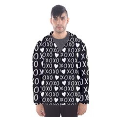 Xo Valentines Day Pattern Hooded Windbreaker (men) by Valentinaart