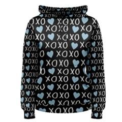 Xo Valentines Day Pattern Women s Pullover Hoodie