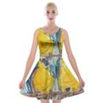 Lovers  by Madzinga Art Velvet Skater Dress