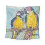 Lovers  by Madzinga Art Square Tapestry (Small)