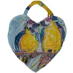 Lovers  by Madzinga Art Giant Heart Shaped Tote
