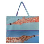 Mother s Love  by Madzinga Art Zipper Large Tote Bag